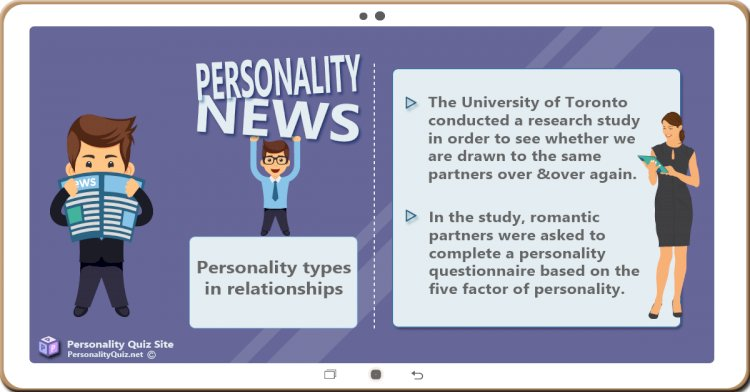 People look for the same personality types again and again, in romantic relationships.